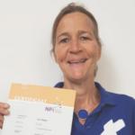 Jolien gecertificeerd oedeemtherapeut